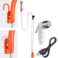 Portable Camping Shower with Pump Battery Powered