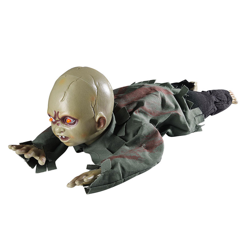 TheDIYOutlet Animated Auto Crawling Zombie Baby Halloween Prop