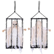 TheDIYOutlet DIY Halloween Prop 3pcs Caged Animated Skeletons