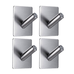 Aquaterior Towel Hooks Robe Hooks Stainless Steel 4-Pack
