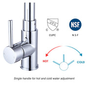 Aquaterior Pull-out Bar Sink Kitchen Faucet Stainless 1-Handle