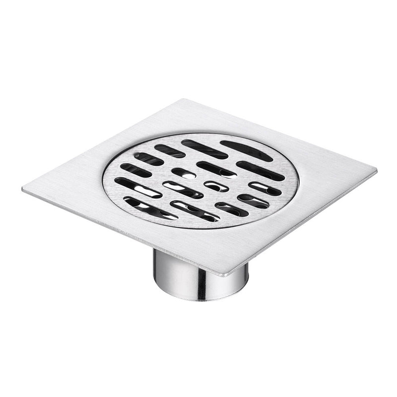 Aquaterior 4x4 in Floor Drain w/ Removable Strainer & Cover