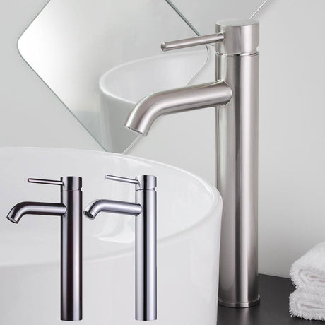 Aquaterior Bathroom Vessel Faucet 1-Hole 12in.