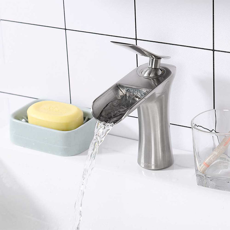 Aquaterior Waterfall Bathroom Faucet Single Handle