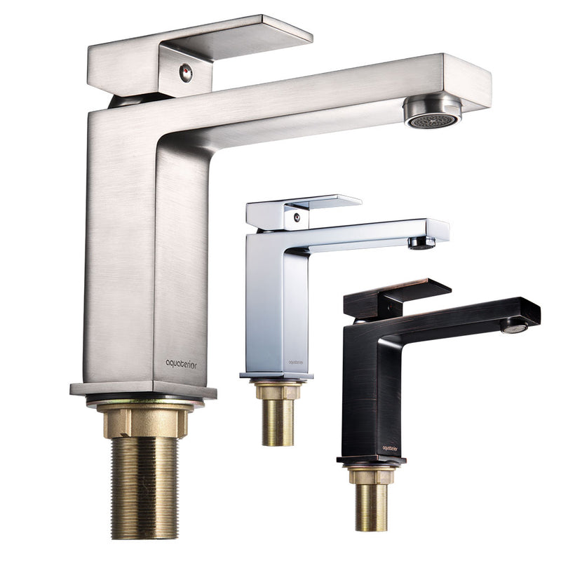 Aquaterior Bathroom Lavatory Faucet Single Handle