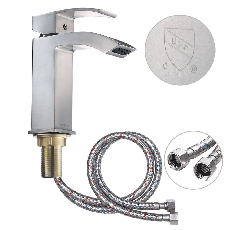 "Aquaterior Bathroom Faucet Single-Hole Square 7""H"