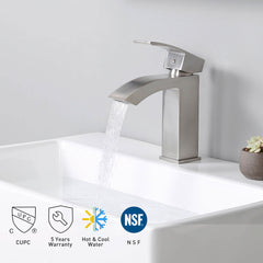 Aquaterior Bathroom Faucet Single-Hole Square 7
