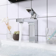 "Aquaterior Bathroom Faucet Single-Hole Square 7.5""H"