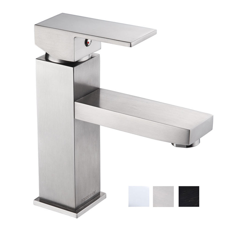 "Aquaterior Bathroom Faucet Single-Hole 7""H Square"