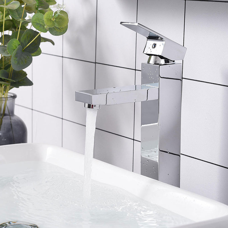 "Aquaterior Vessel Sink Faucet Single-Hole 12""H Square"