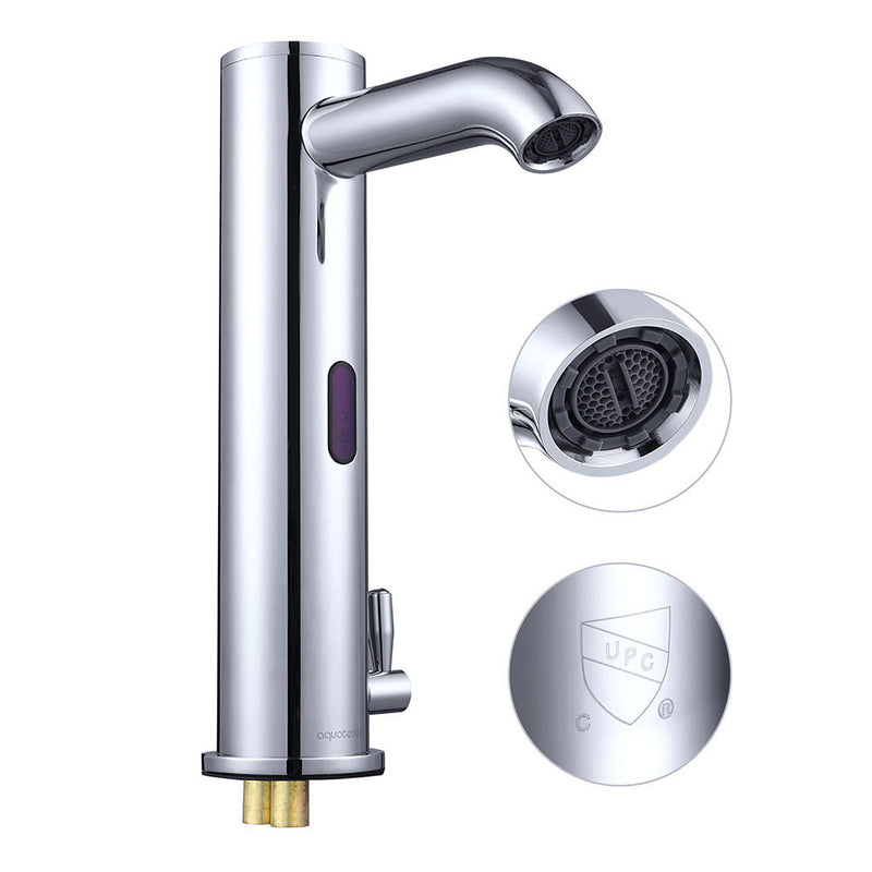 Aquaterior Auto Sensor Touchless Bathroom Faucet Hot & Cold 10""