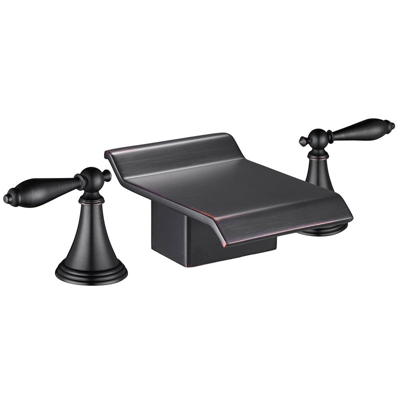 TheDIYOutlet 2-Handle Waterfall Bathroom Bathtub Faucet Oil Rubbed Bronze