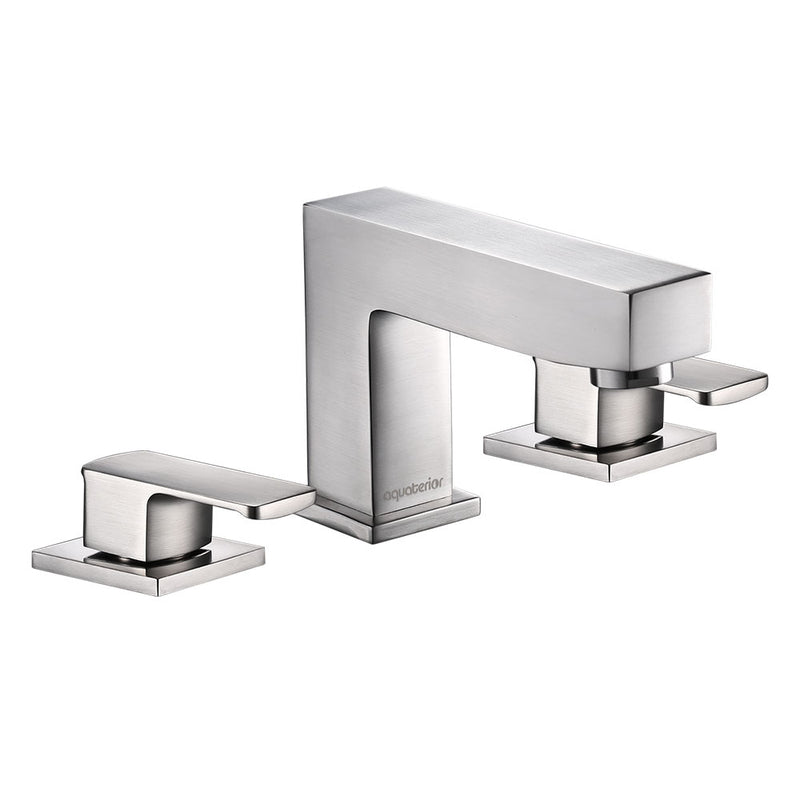 "Aquaterior Widespread Bathroom Faucet 3-Hole 2-Handle 4""H"