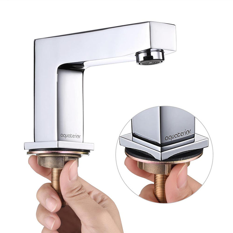 "Aquaterior Bathroom Widespread Faucet 2-Handle Hot & Cold 4""H"
