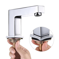 Aquaterior Bathroom Widespread Faucet 2-Handle Hot & Cold 4