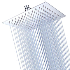 TheDIYOutlet Square Rain Shower Head Top Spray Stainless Steel 8