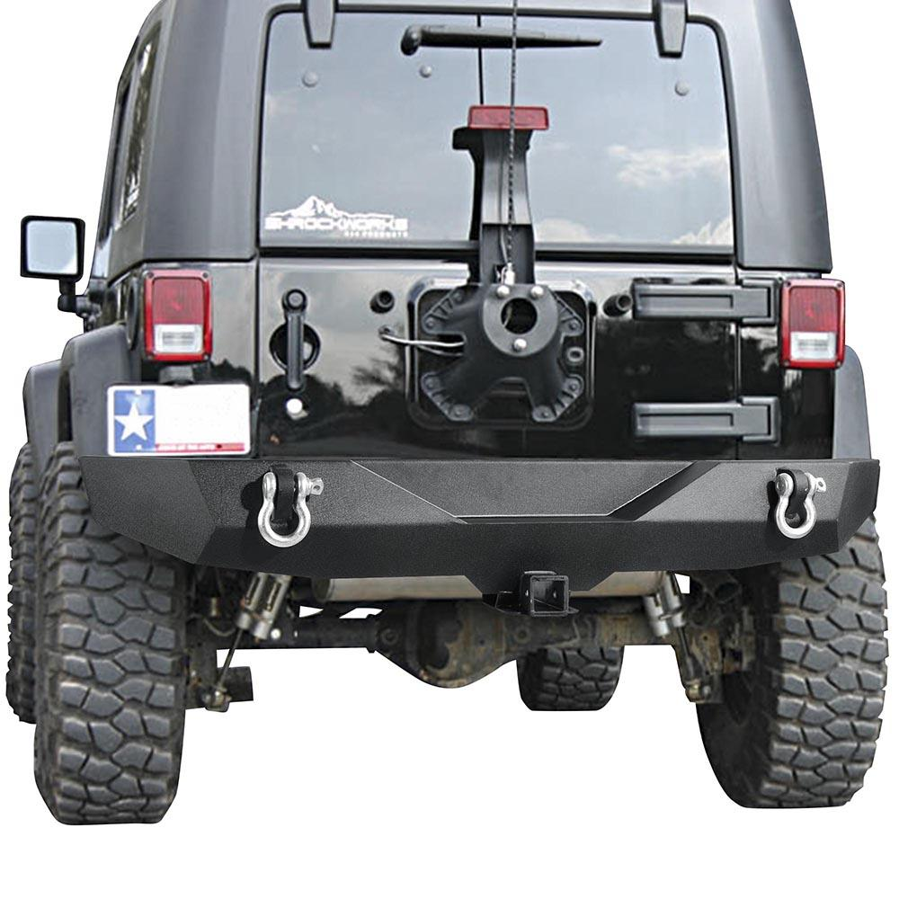 Rear Bumper w/ Hitch D-Rings for 07-16 Wrangler JK Rock Crawler
