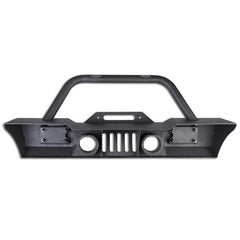 TheDIYOutlet Fog Lamp Hole Front Bumper Winch Plate D-Rings Kit for 07-16 Jeep JK