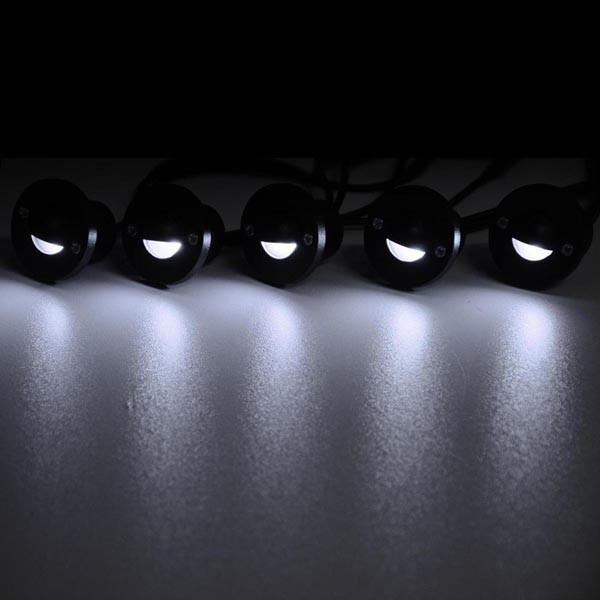 10x Waterproof LED Step Deck Lights w/ Transformer Cool White