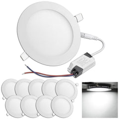DELight 12W LED Ceiling Recessed Lighting 10 Pack Cool White