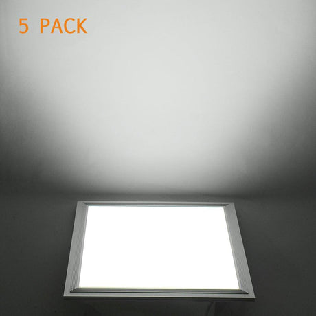 DELight 12W 5-Pcs LED Ceiling Light Fixture Panel Cool White