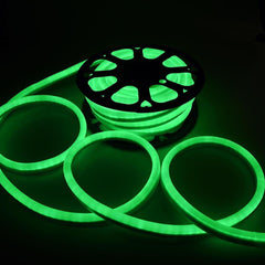 DELight Flexing LED Neon Rope Light Green 50'