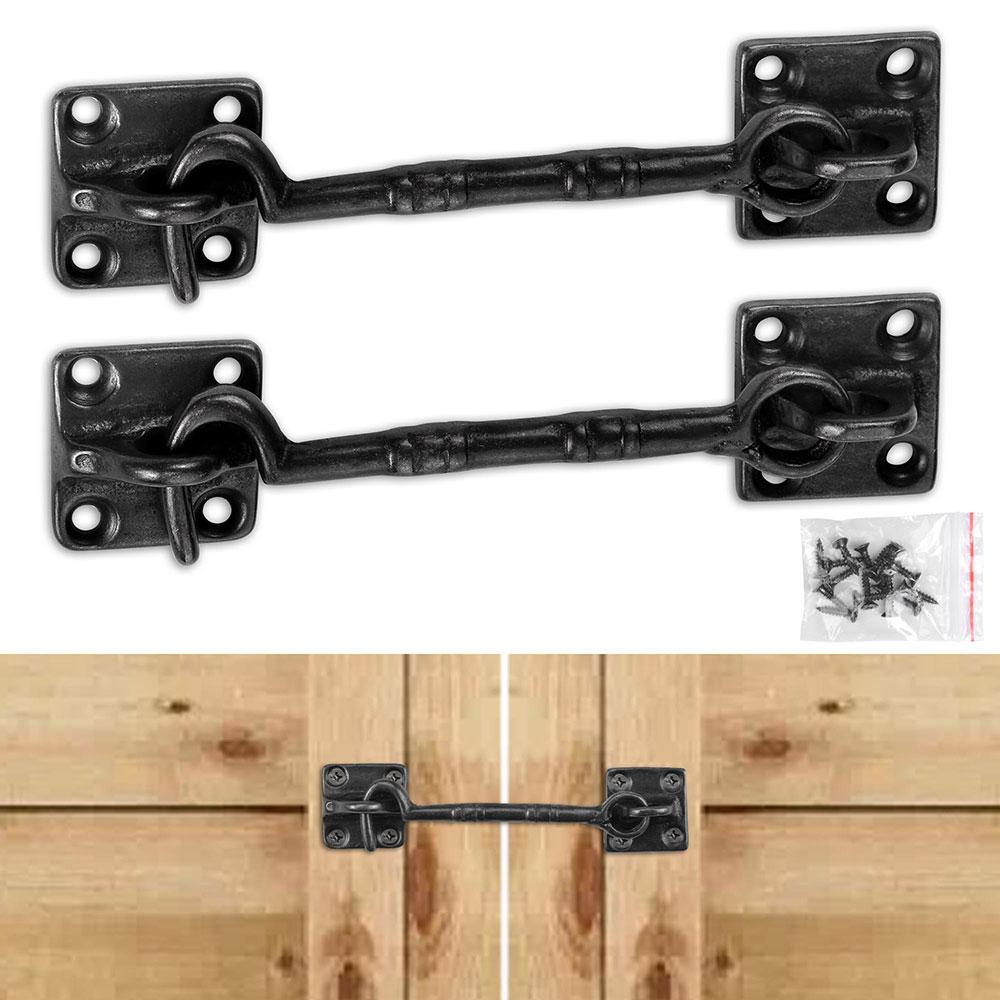2Pcs 4 1/2 in Black Heavy Duty Gate Latches Door Lock Cast Copper