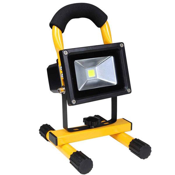 10W Portable Rechargeable LED Flood Light Yellow
