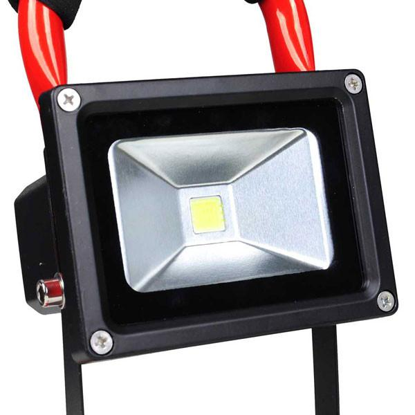 10W Portable Rechargeable LED Flood Light Red