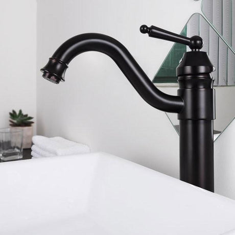 TheDIYOutlet Tall 1-Hole Bath Bar Lavatory Faucet Oil Rubbed Bronze