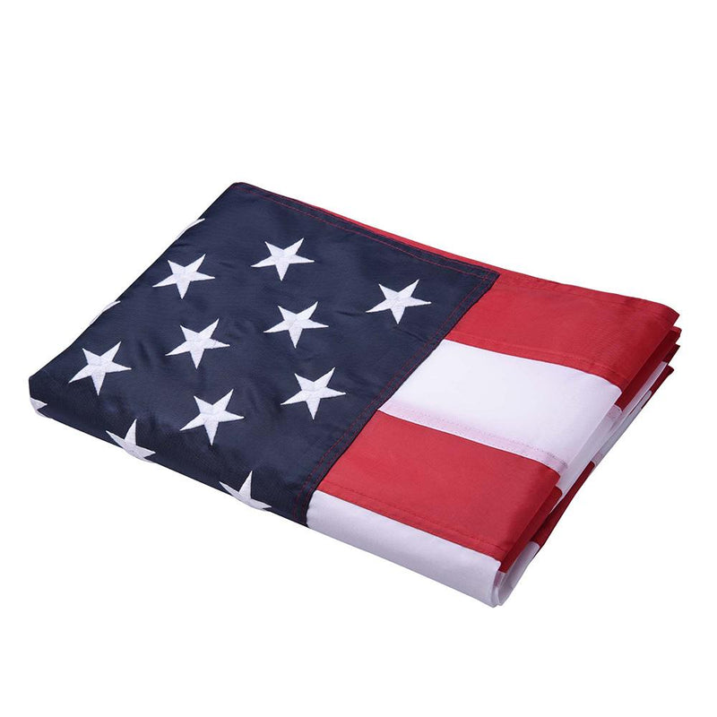 TheDIYOutlet 3x5 ft Embroidered US American Flag Star Stripe w/ hoisting grommets