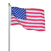 20 ft Aluminum Sectional Flagpole Kit with American Flag