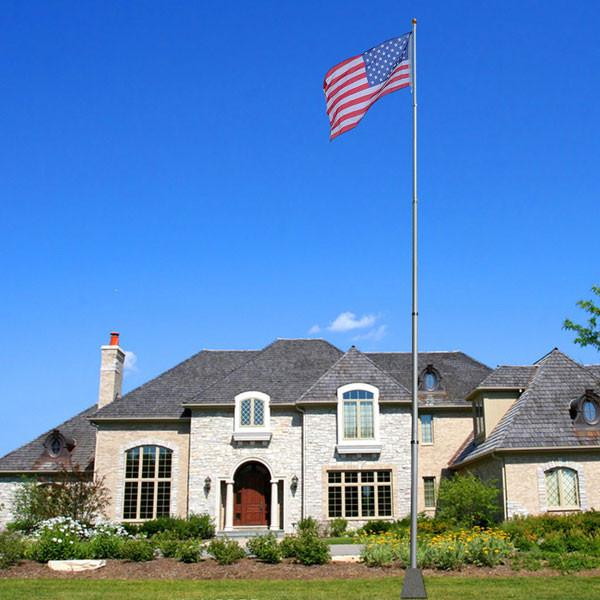 TheDIYOutlet 20 ft Aluminum Telescoping Flagpole Kit with US Flag
