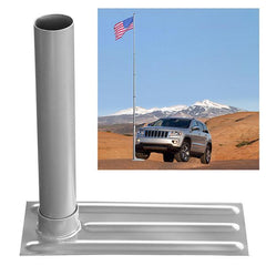 TheDIYOutlet 30 ft Aluminum Telescoping Flag Pole Kit with Tailgating