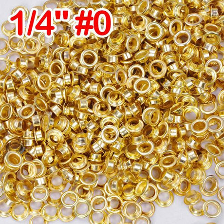 "1/4"" #0 Brass Grommets and Washers Pack 2000"