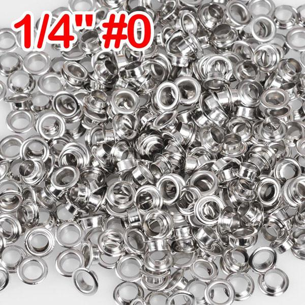 "1/4"" #0 Nickel Grommets and Washers Pack 2000"