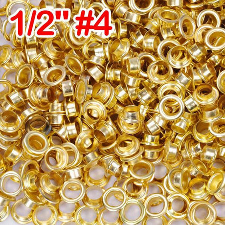 "TheDIYOutlet 1/2"" #4 Brass Grommets and Washers Pack 1000"