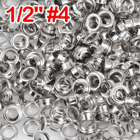 "1/2"" #4 Nickel Grommets and Washers Pack 1000"
