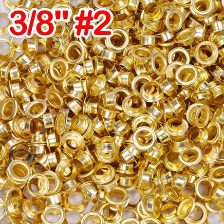 "3/8"" #2 Brass Grommets and Washers Pack 1000"