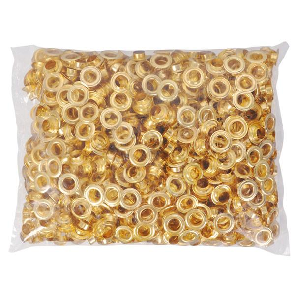 "TheDIYOutlet 3/8"" #2 Brass Grommets and Washers Pack 1000"