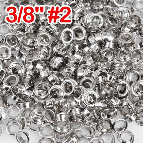 "3/8"" #2 Nickel Grommets and Washers Pack 1000"