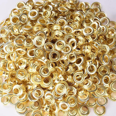 "3/8"" #2 Brass Grommets Pack 1000 Semi-Automatic Grommet Machine"