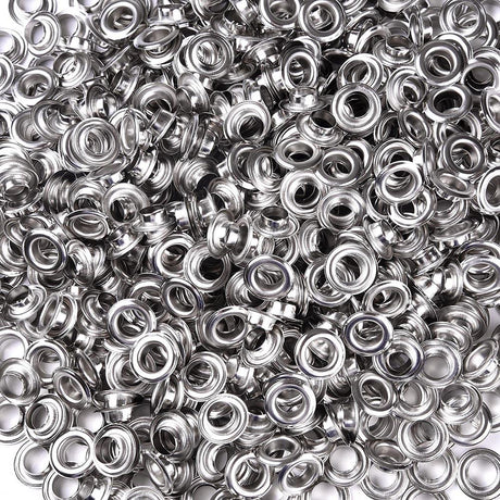 "TheDIYOutlet 3/8"" #2 Nickel Grommets Pack 1000 Semi-Automatic Grommet Machine"