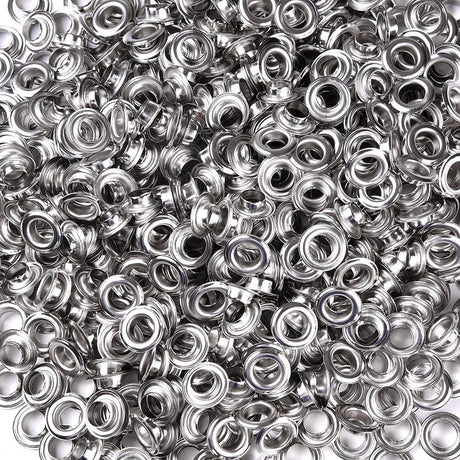 TheDIYOutlet 10mm #2 Grommets and Washers Pack 1000 for Grommet Punch