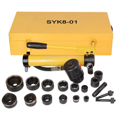 TheDIYOutlet 10-Ton Hydraulic Punch Driver Tool Kit w/ 6 Dies Yellow