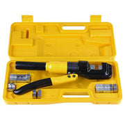 10-Ton Hydraulic Cable Wire Crimp Tool with 9 Dies