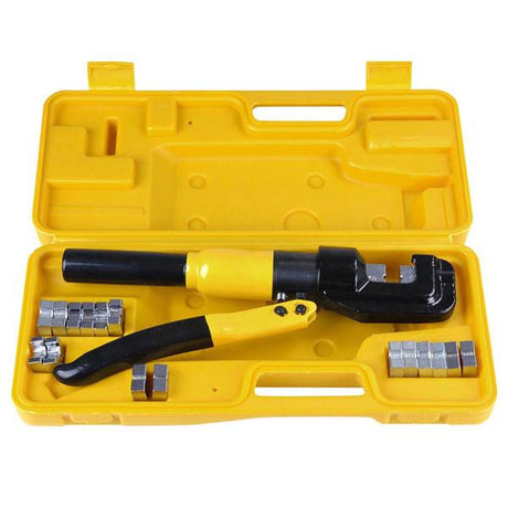 TheDIYOutlet 10-Ton Hydraulic Cable Wire Crimp Tool with 9 Dies