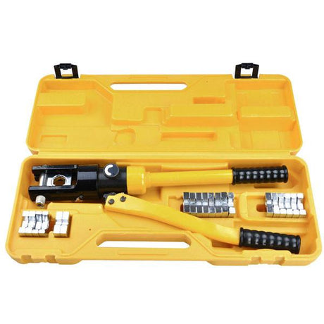 16-Ton Hydraulic Cable Wire Crimp Tool with 11 Dies
