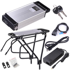 48v 14.5ah Electric Bicycle Lithium Battery Rack w/ Charger