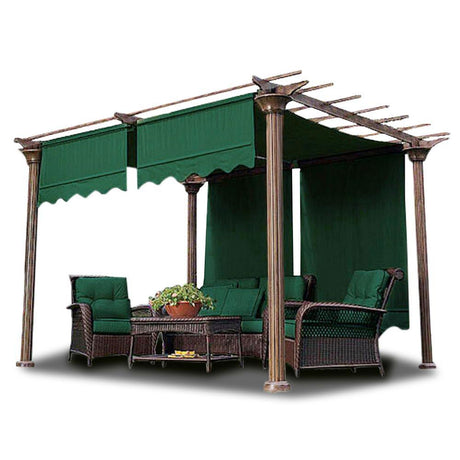 2pcs 15-1/2' x 4' Pergola Roof Cover Canopy Replacement Green